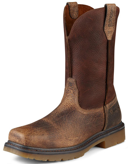 "Ariat Men's Rambler 10"" Pull On Work Boots - Earth/Brown"