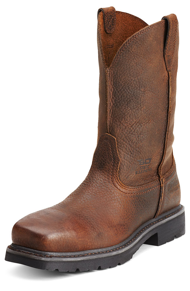 "Ariat Men's ""Rambler"" Composite Toe with Static Dissipating Soles Work Boots - Brown Rowdy"