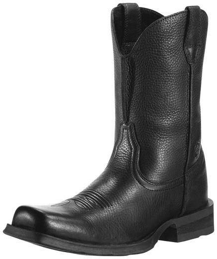 Ariat Men's Rambler Cowboy Boots - Black Deertan