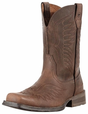 Ariat Men's Rambler Phoenix Cowboy Boots - Distressed Brown (Closeout)