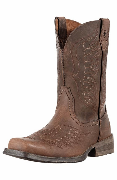Ariat Men's Rambler Phoenix Cowboy Boots - Distressed Brown