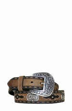 Ariat - Men's San Juan Belt Collection - Tan/Coffee (Closeout)