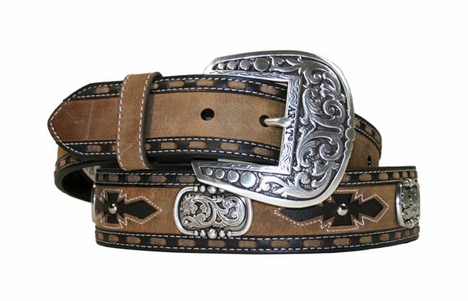 Ariat - Men's San Juan Belt Collection - Tan/Coffee