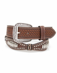 Ariat Men's Scalloped Bullet Concho Belt - Tan