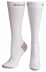 Ariat Men's Slim Sport Socks - White