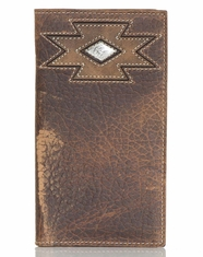 Ariat Men's Southwest Cross Rodeo Wallet - Brown