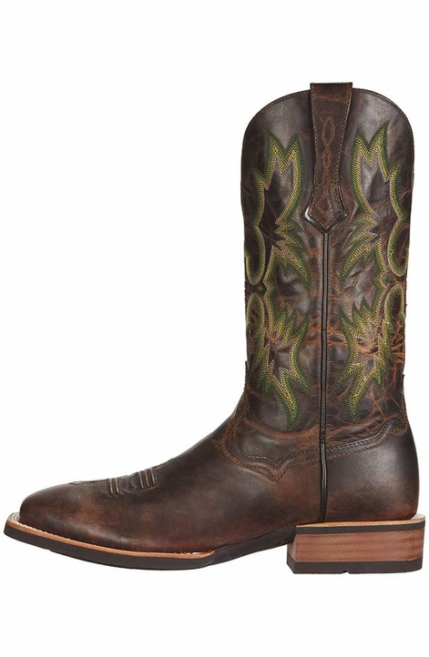 "Ariat Men's Tombstone 13"" Cowboy Boots - Weathered Chestnut"