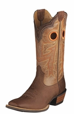 "Ariat Men's Wildstock 13"" Cowboy Boots - Weathered Brown/Quartz"