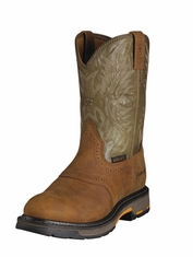 Ariat Men's Work Hog Pull On Boots - Aged Bark/Army Green