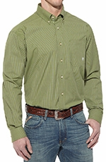 Ariat Mens Acacia Long Sleeve Performance Button Down Western Shirt - Bay Laurel