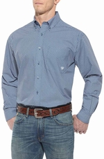 Ariat Mens Baker Long Sleeve Button Down Western Shirt - Boston Bluesox