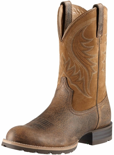 Ariat Mens Hybrid Rancher Cowboy Boots - Earth/Dry Well Tan (Closeout)