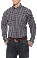 Ariat Mens Brea Long Sleeve Button Down Western Shirt - Purple