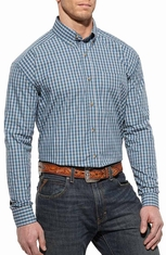 Ariat Mens Buck Long Sleeve Performance Western Shirt - Blue Slate
