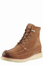 Ariat Mens Buckshot Lacer Boots - Burnished Brown Suede