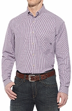 Ariat Mens Calex Long Sleeve Performance Button Down Western Shirt