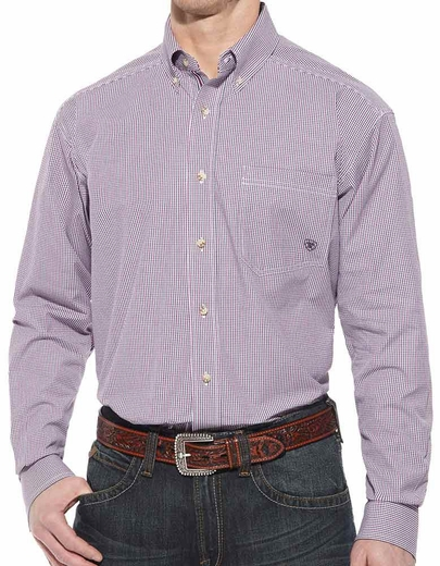 Ariat Mens Calex Long Sleeve Performance Button Down Western Shirt (Closeout)