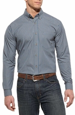 Ariat Mens Devon Long Sleeve Fitted Performance Western Shirt - Blue Slate