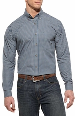 Ariat Mens Devon Long Sleeve Fitted Performance Western Shirt - Blue Slate (Closeout)