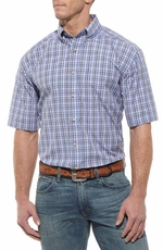 Ariat Mens Drew Short Sleeve Performance Button Down Western Shirt - Multi (Closeout)