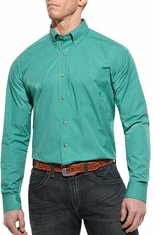 Ariat Mens Felix Long Sleeve Performance Western Shirt - Perfect Lawn (Closeout)