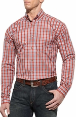 Ariat Mens Forth Long Sleeve Fitted Performance Western Shirt - Spitfire