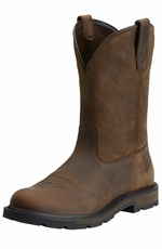 "Ariat® Mens Groundbreaker 10"" Work Boots - Brown"