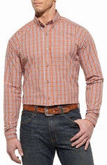 Ariat Mens Laughlin Long Sleeve Performance Western Shirt - Sunset (Closeout)
