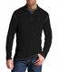 Ariat Mens Long Sleeve Fire Resistant Polartec 1/4 Zip Base Layer - Black