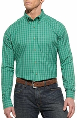 Ariat Mens Nelson Long Sleeve Performance Western Shirt - Perfect Lawn