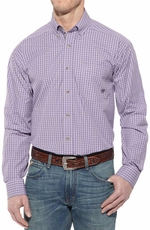 Ariat Mens Newman Long Sleeve Performance Button Down Western Shirt - Thistle