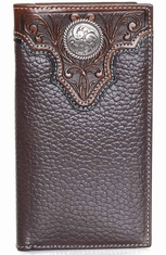 Ariat Mens Overlay Concho Rodeo Wallet - Brown