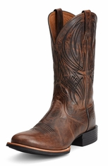 Ariat Mens Quantum Pro Cowboy Boots - Weathered Chestnut (Closeout)