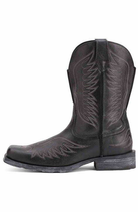 Ariat Mens Rambler™ Phoenix Cowboy Boots - Black Pepper