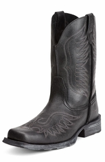 Ariat Mens Rambler™ Phoenix Cowboy Boots - Black Pepper (Closeout)