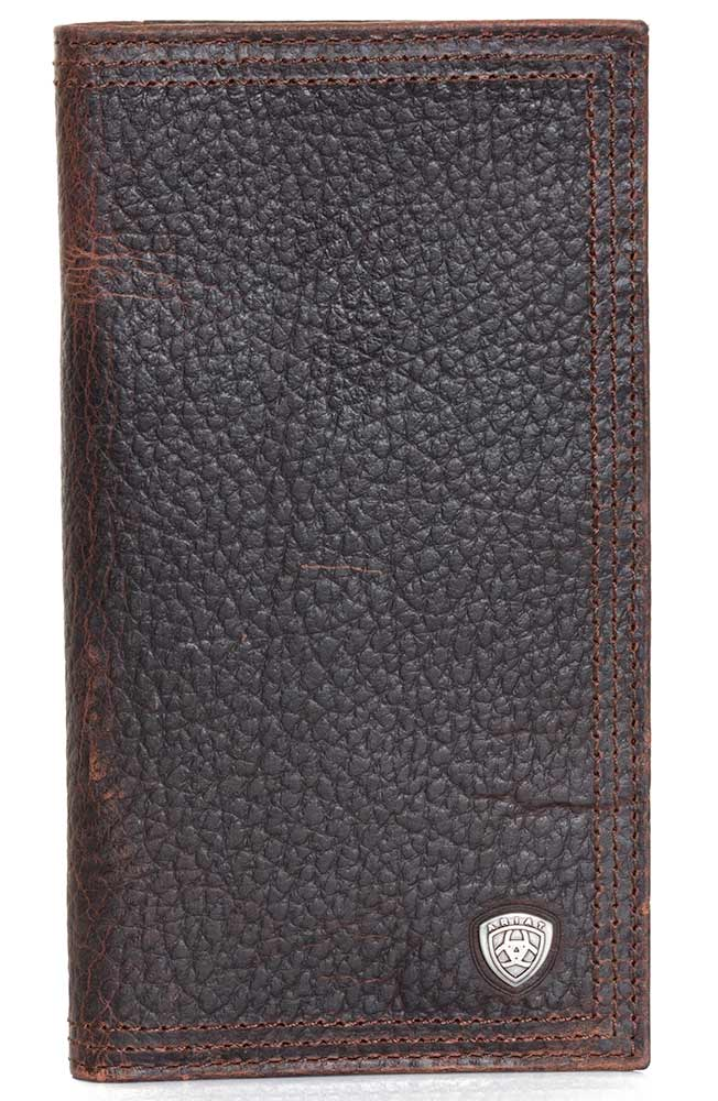 Ariat Mens Small Shield Rodeo Wallet - Brown Rowdy