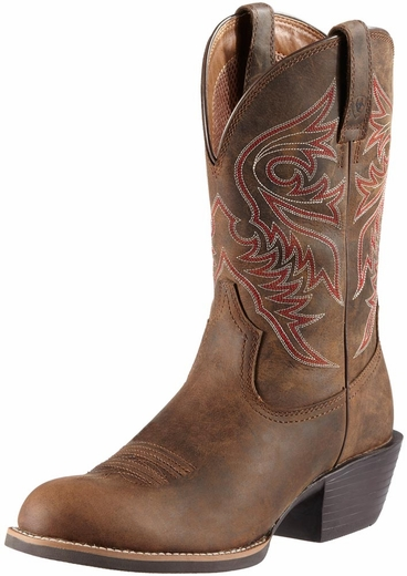 Ariat Mens Sport Brumby Cowboy Boots -  Distressed Brown