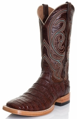 Ariat Mens Stillwater Caiman Belly Square Toe Cowboy Boots - Cinnamon