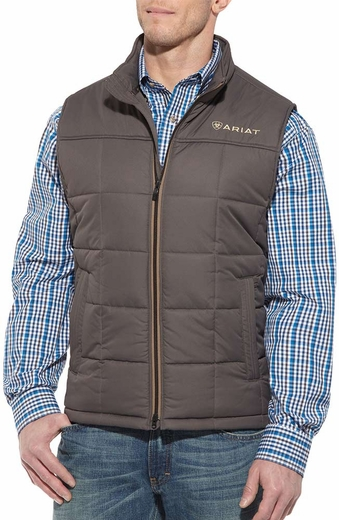 Ariat Mens Crius Zip Front Vest - Warewolf