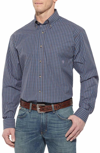 Ariat Mens Colton Long Sleeve Performance Button Down Western Shirt - Werewolf (Closeout)