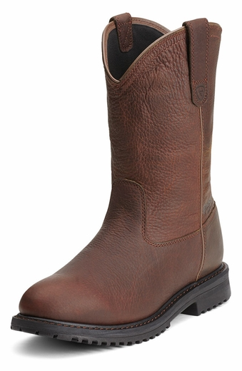 Ariat Mens Rigtek Waterproof Work Boots - Oiled Brown