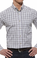 Ariat® Mens Dries Long Sleeve Performance Button Down Shirt - White Multi (Closeout)