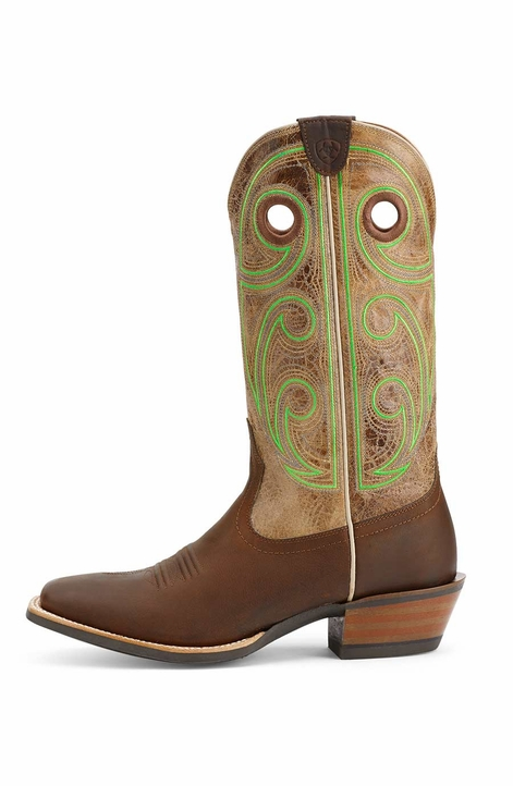 Ariat® Mens High Stepper Boots - Weathered Brown/Tannish