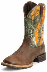Ariat® Mens Hybrid Rancher Boots - Brown/True Timber®