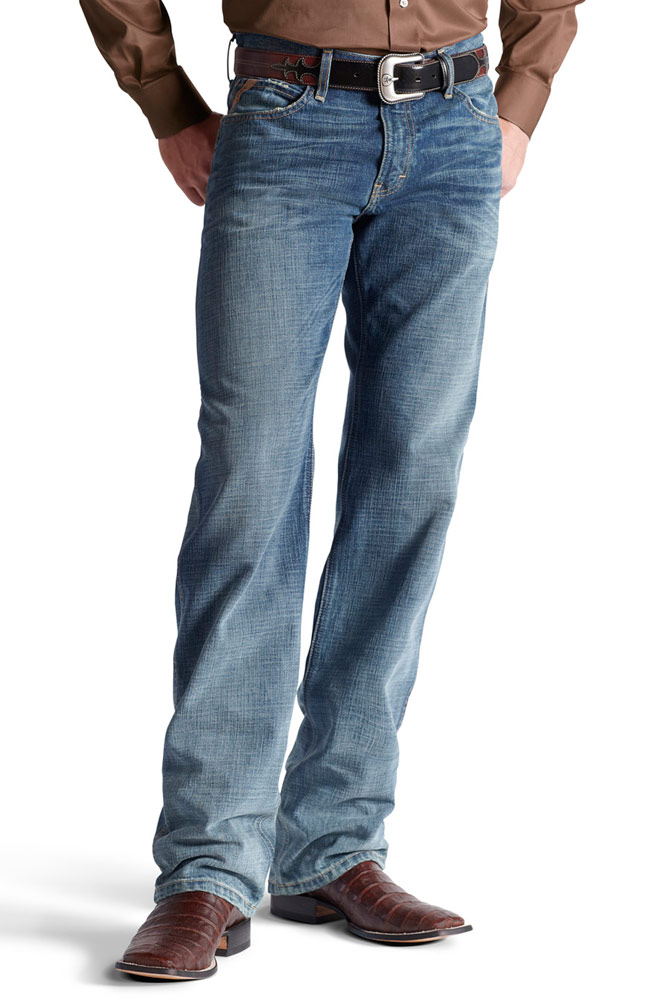 Ariat® Mens M3 Loose Fit Straight Leg Jeans - Scoundrel (Closeout)