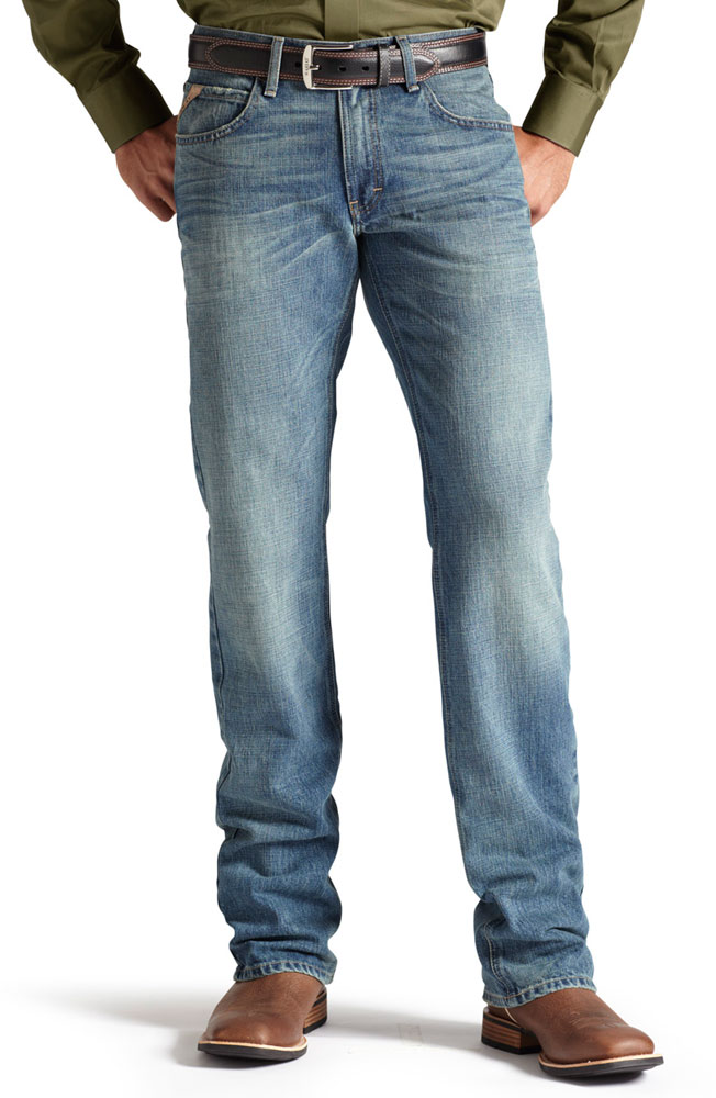 Ariat® Mens M5 Low Rise Slim Fit Straight Leg Jeans - Nevada (Closeout)