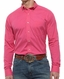 Ariat® Mens Performance Long Sleeve Button Down Shirt - Hot Pink (Closeout)
