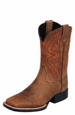 Ariat® Quickdraw Kid's Boots - Distressed Brown (Closeout)