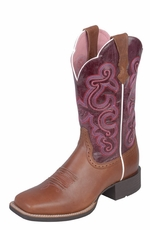 Ariat® Women's Quickdraw Performance Cowboy Boots - Russet Rebel / Fig