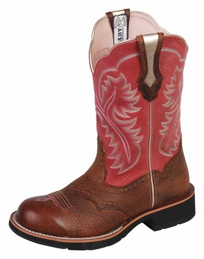 Ariat® Women's Showbaby Cowboy Boots - Brown / Wild Rose (Closeout)